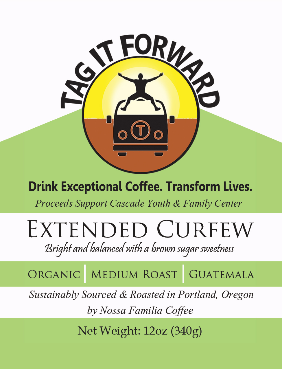 Tag it Forward Coffee Lable